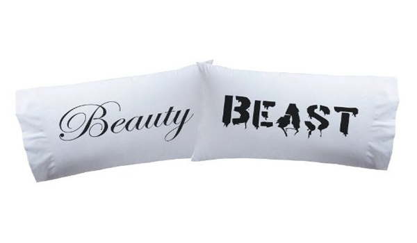 'Beauty & Beast' pillowcases