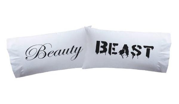 'Beauty & Beast' pillowcases