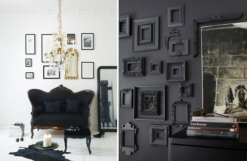 black home decorating ideas