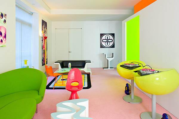 Colorful interior in New York
