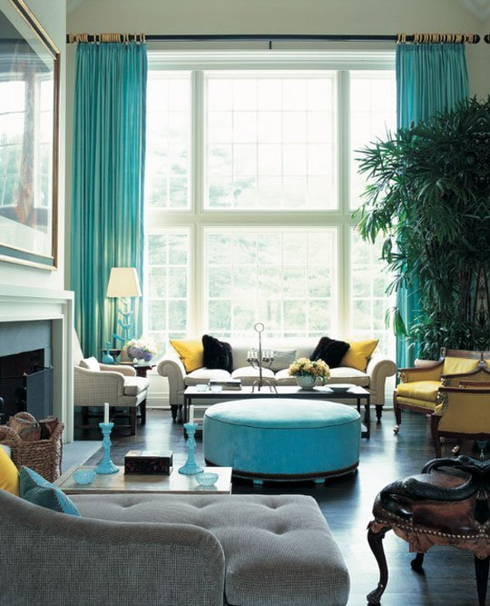 sea blue living room design - How To Add Color To A Room