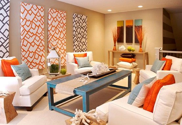Earthy Living Room Colors add color to your living room décor – adorable home