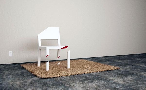 Cut chair's unique design