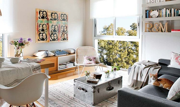 Shabby-chic apartment design