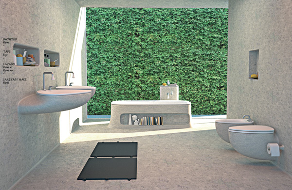 The Flow bathroom design