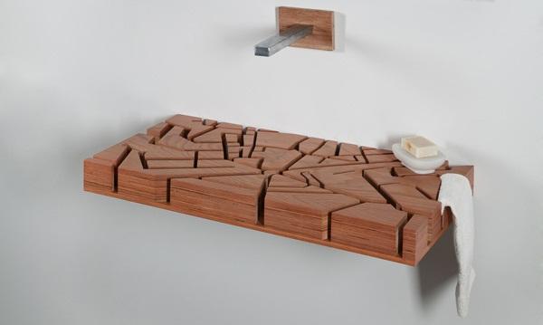 Unique bathroom furniture: the Water Map basin
