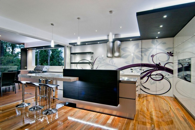 A stylish kitchen with form and function