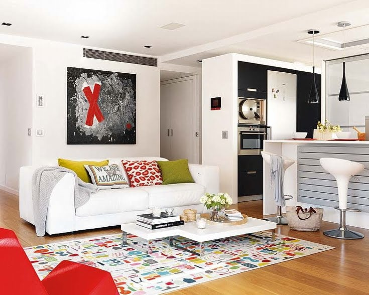 Cute and modern apartment interior design