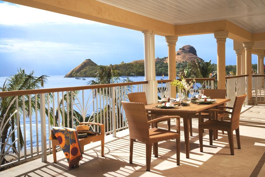 Luxury summer resort in Saint Lucia