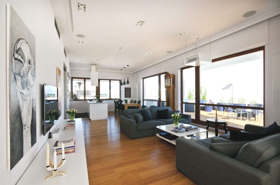 Modern penthouse suite: a classic style that never fades