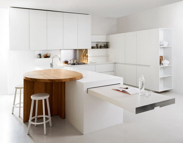 White minimalist kitchens