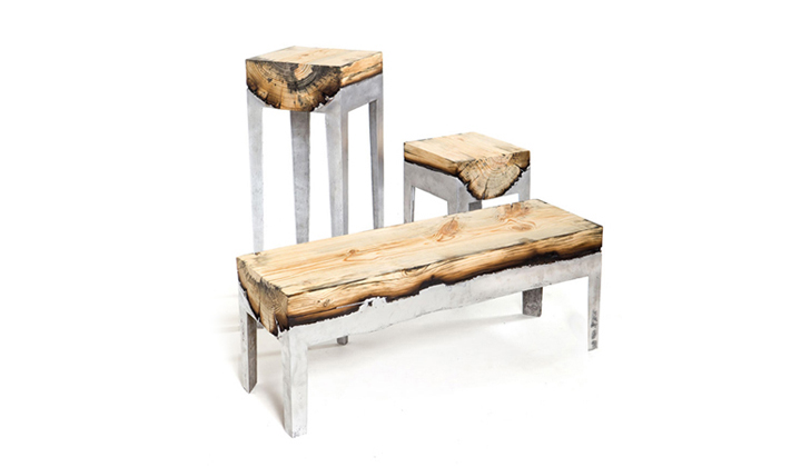 Wood casting: one of a kind contemporary furniture