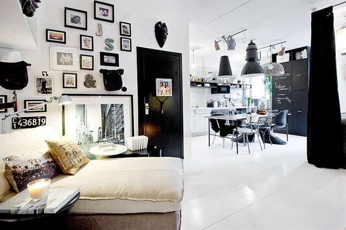 A favorite black and white interior design