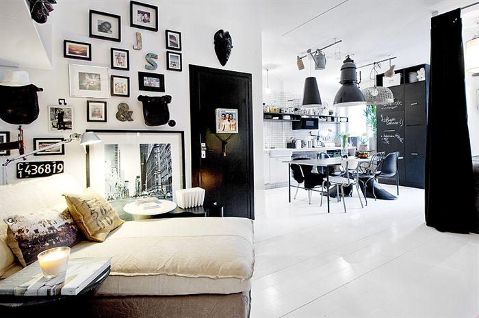 A favorite black and white interior design
