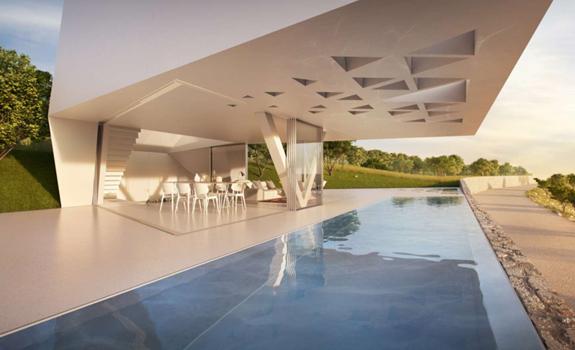 Overlooking the Aegean: a futuristic house