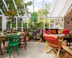 Let's put a little home in greenhouse design