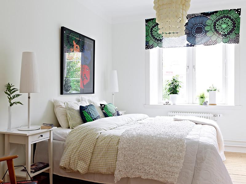 A funky light bedroom