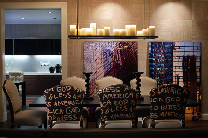 Glamor on top of glamor: a stylish home