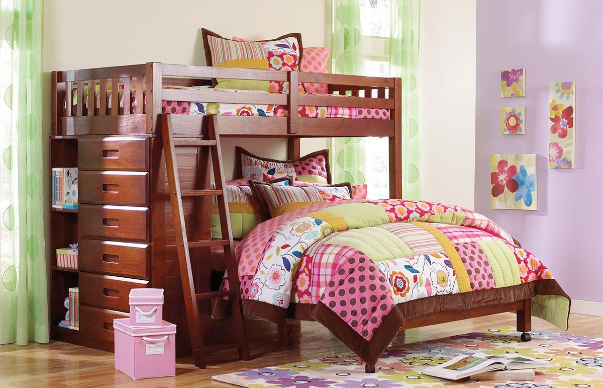 Twin-Loft-Bed-With-Drawers