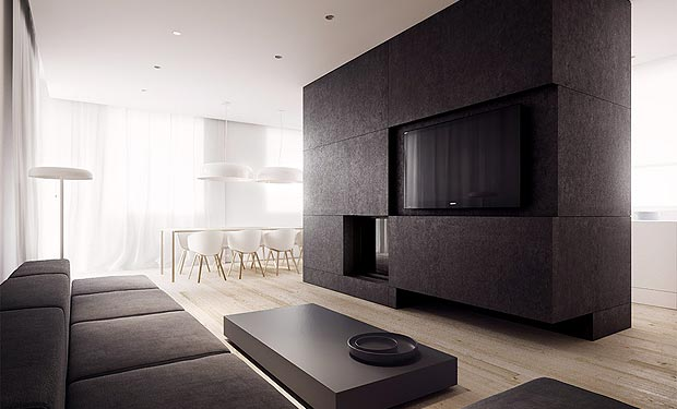 Wonderful minimalist interior design
