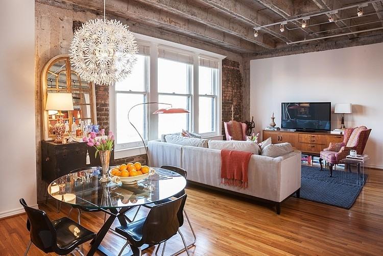 A delicate loft interior design