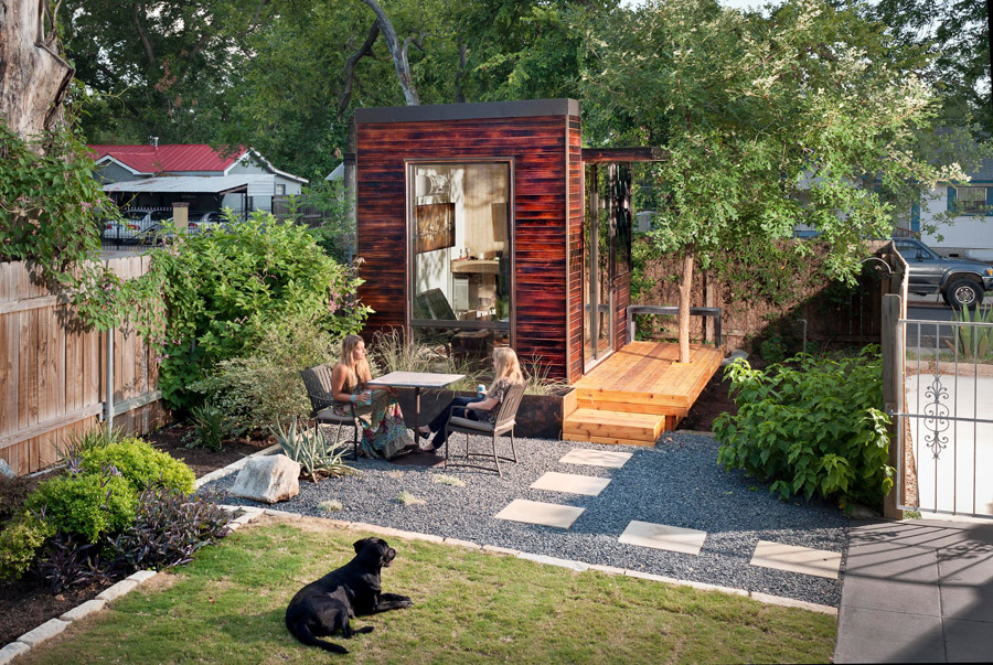 A remarkable backyard office