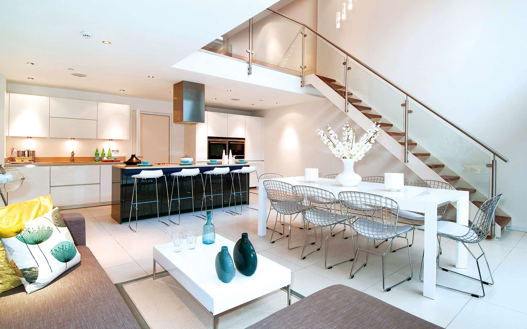 A sleek and inviting townhouse