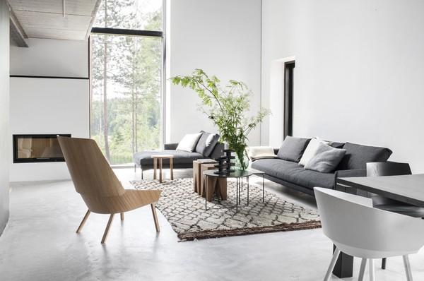 A striking contemporary home