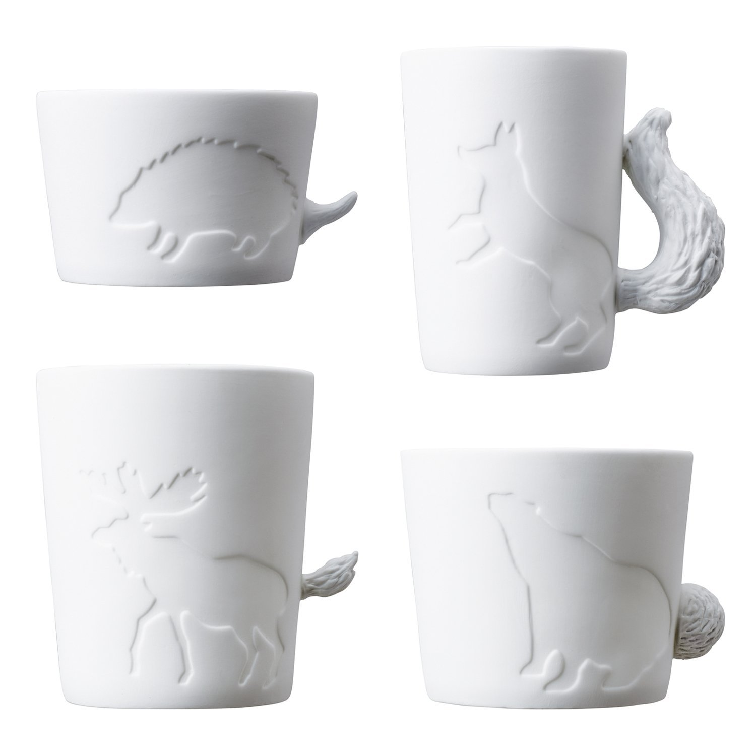 Animal mugtail set