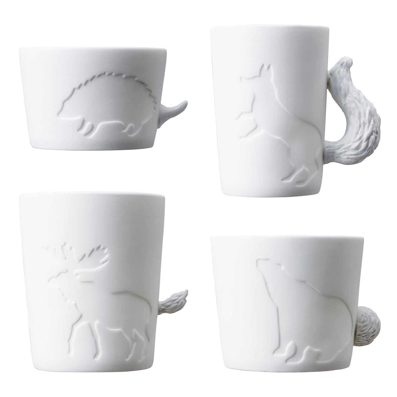 Animal mugtail set