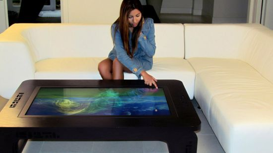 ring a little fun into your living room with this multi-touch table