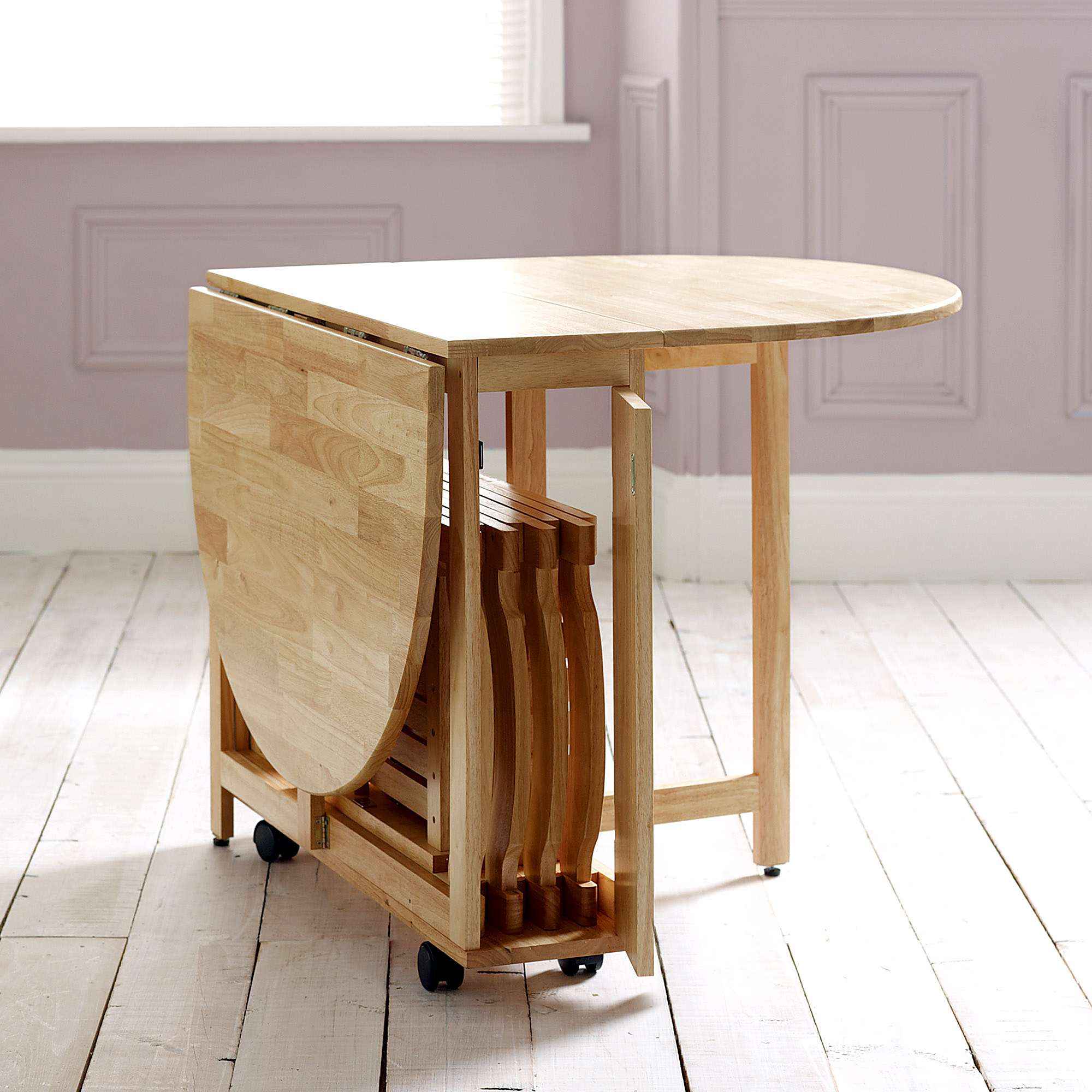 Choose a folding dining table for a small space adorable for Table retractable
