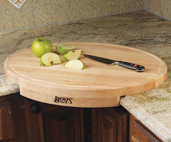 Corner cutting board by John Boos