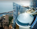 Down the water slide and into the infinity pool in this luxury penthouse