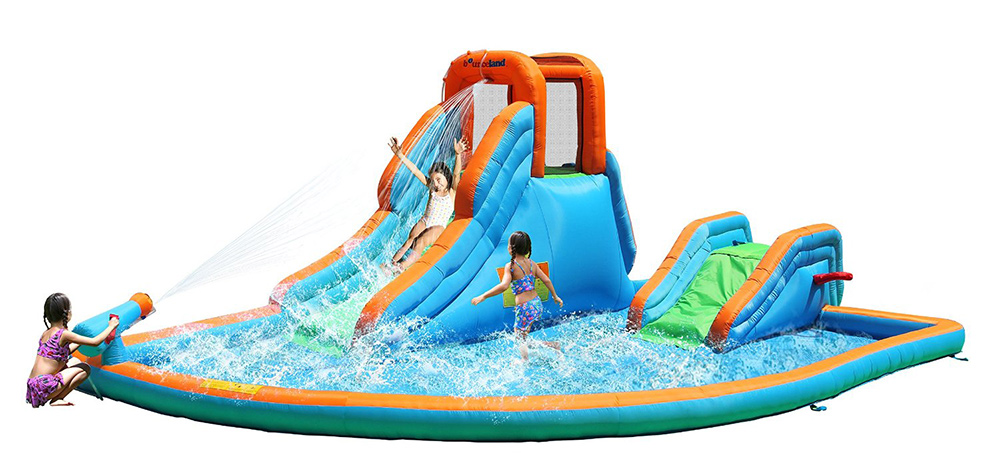Inflatable-Water-Slide-With-Pool