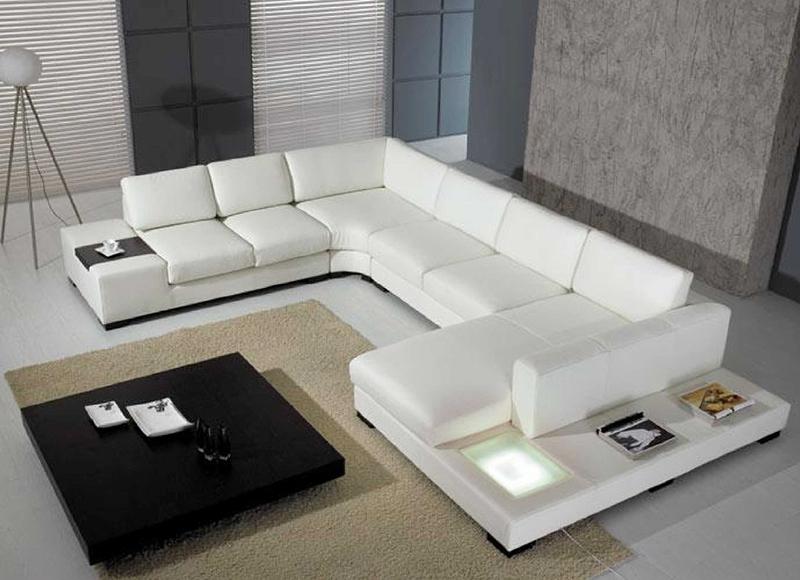 Multi-purpose Leather Sectional Sofa