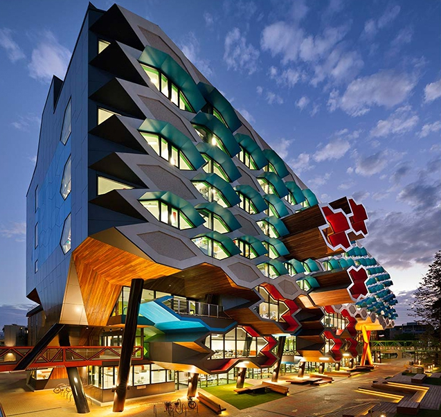 Playful university architecture