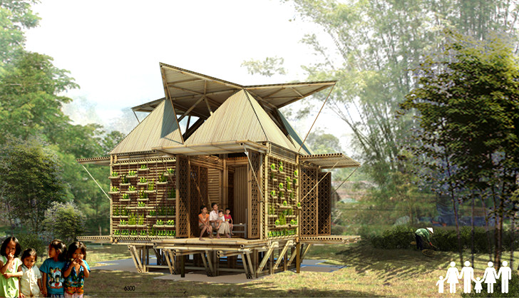 Sustainable and affordable bamboo houses