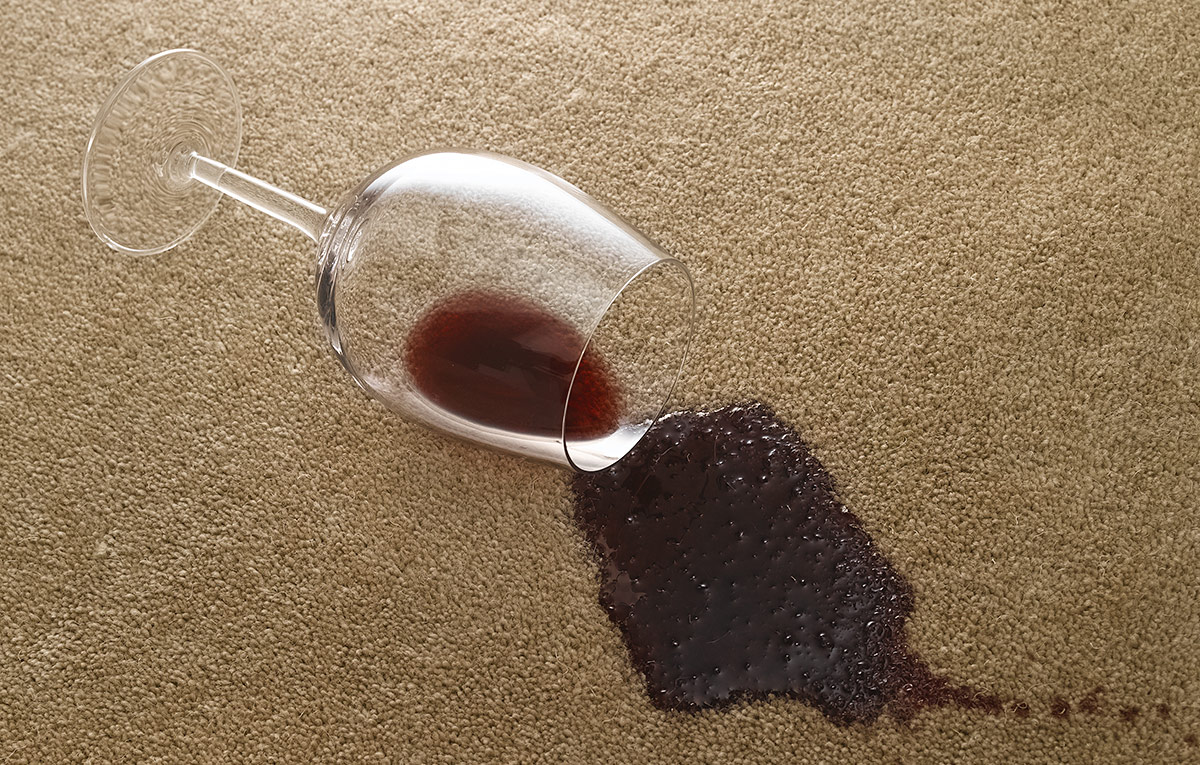 Tips for Removing Carpet Stains - red wine