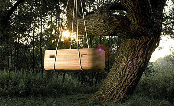 Modern wooden cradle