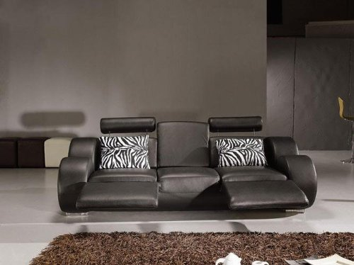 Modern leather recliner sofa set