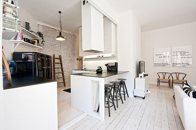 A black and white fresh home