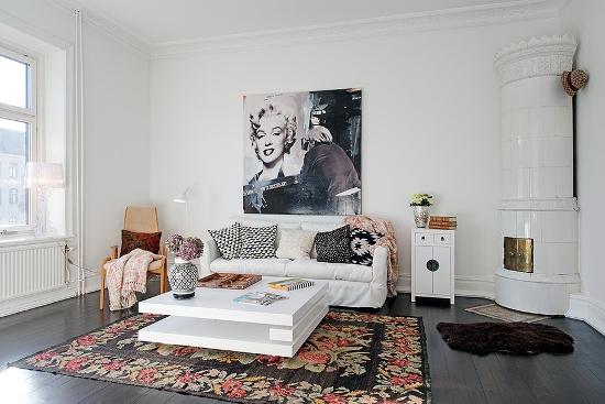 An adorable Scandinavian apartment