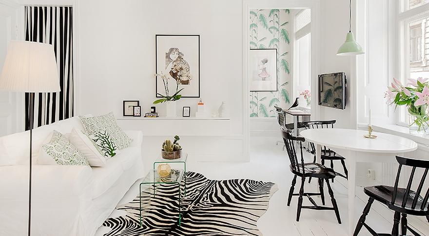 Delicately done a white apartment