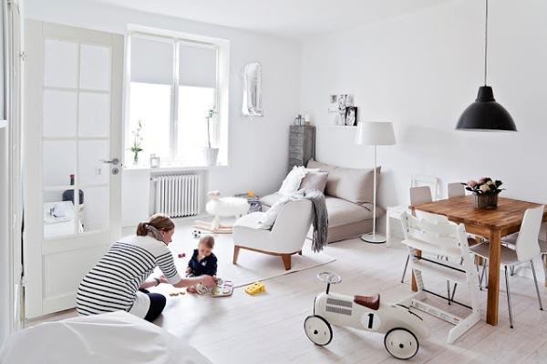Pure white interior