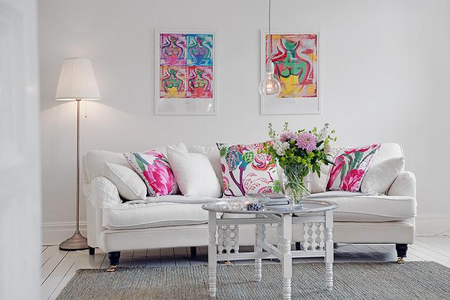 A lovely white interior
