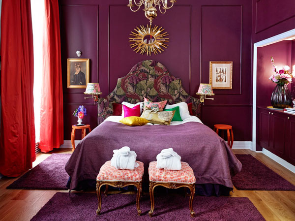 A purple décor paradise in Norway