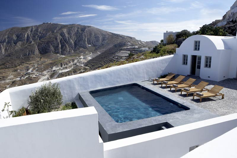 A white villa in Santorini