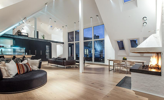 Amazing attic penthouse in Stockholm
