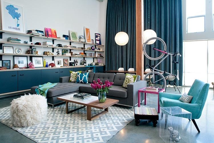 Bright and playful: a loft design